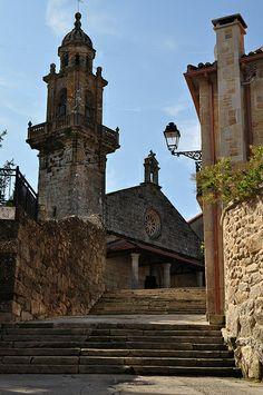 Eglise Santa Maria do Campo, Muros, province de La Corogne, Galice, Espagne.