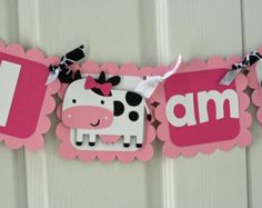 Farm Birthday Banner Girl Farm Birthday Banner by AngiesDesignz