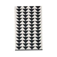 Black Marble Rug. This graphic, black-and-white hand-woven cotton rug is a bold anchor for any room. SEK 4,742.00
