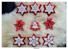 Christmas snowflakes on christmas tree