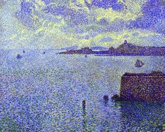 Theo van Rysselberghe  Sailboats in the Estuary  More : http://wortleyvillage.net/postimp/Van_Rysselberghe/indextv.html
