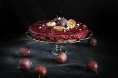 Plum Chestnut Fennel Cheesecake
