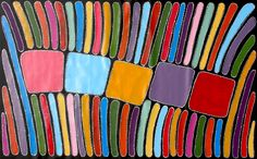 Aboriginal Artwork by Sally Clark. Sold through Coolabah Art on eBay