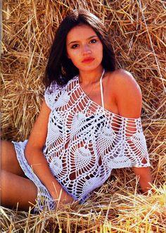 Sidney Artesanato: Blusa um luxo de bonita