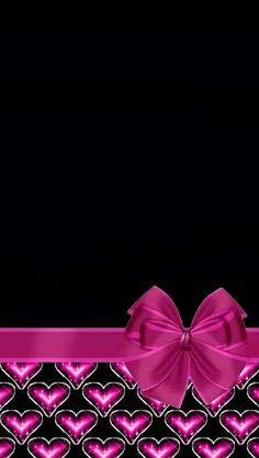 Pink heart bow wallpaper