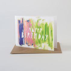 PAINT STROKE CARD- HAPPY BIRTHDAY