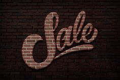 Brick Text Styles for Photoshop by Creativenauts on @creativemarket