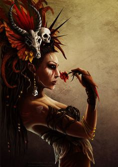 Queen of Spades , Voodoo Style by CAHess on deviantART