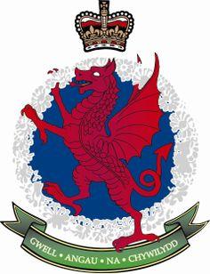Royal Welsh Fusiliers RWF Lapel Regimental Military Rampant Dragon Badge