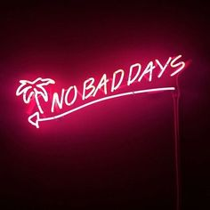 no bad vibes so no bad days.