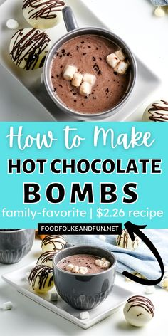 Make six cocoa bombs for less than the price of one at chocolate shops and high-end food stores! About $2.26 is all it costs to make these Hot Chocolate Bombs. For more frugal recipes follow Food Folks and Fun!