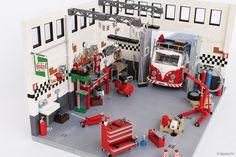 Garage Workshop A LEGO® creation by Andrea Lattanzio #LEGO #MOC
