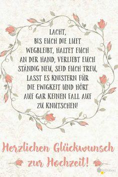 #Hochzeit #Glückwünsche #Grußkarte # Sprüche Diesen und weitere süße Glückwünsche zum Ausdrucken oder Abschreiben findet Ihr auf ROOMBEEZ ♥