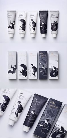 japanese inspired packaging design for cosmetic brand - minimal wabi sabi graphic design and branding.