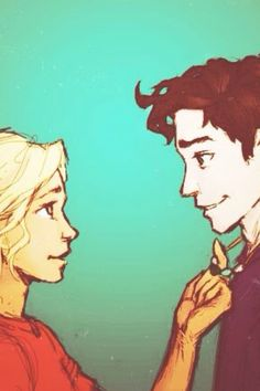 Percy and Annabeth -- Percy Jackson Percabeth, Solangelo, Percy Jackson Fan Art, Percy Jackson Fandom, Rick Y, Uncle Rick, Magnus Chase, Character Art, Character Design