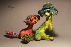 Author, OOAK, Fairy, Tale, Sculpture Fantasy Art Original Handmade