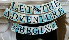 Adventure Banner, adventure theme Travel theme Banner, Retirement party, Bridal shower, baby shower,graduation party,…