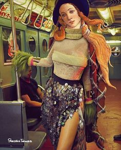 The collision of art history and pop culture comes alive in the digital collage of Shusaku Takaoka