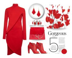 """Red's your colour"" by outfitsloveyou ❤ liked on Polyvore featuring Maison Margiela, Givenchy, Chloé and Mixit"
