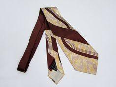 1940's Swing Tie - Wide Silk Neck Tie by FASHION CRAFT CRAVATS