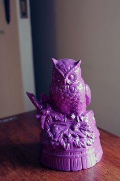 Purple Owl Figure by popstarscrafts on Etsy, $7.00
