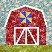 Red Barn paper pieced block - via @Craftsy