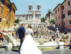 romance of old roma. spanish steps.