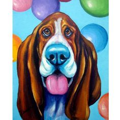 SALE Various 8x10 Dog Art Prints from Original by DottieDracos, $5.00 Etsy.com #basset #hound #print