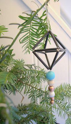 Himmeli tree decorations DIY