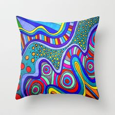 MaeLin Throw Pillow by Erin Jordan - $20.00