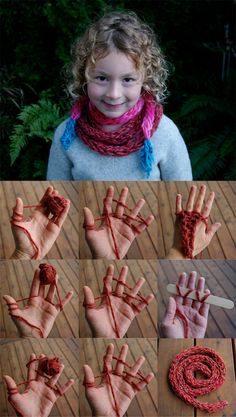 DIY :: finger knitting with children ( http://passengersonalittlespaceship.blogspot.ca/2012/11/finger-knitting-with-children.html )