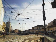 Potrei vederti ovunque negli angoli della città mi basta immaginarti per averti già qua  #portagenova #milan #city #milanodavedere #milanocityufficiale #home #skyline #sunset #tbt #picoftheday #tram #missing #seeyousoon #candles #salmo #wind #clouds #sunny #sky #light #bright #daylight #streets #beautiful #spring by jeid.z