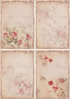 Collage Sheet Shabby Chic