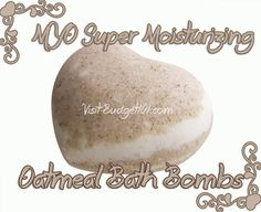 Oatmeal Bath Bombs Create your own moisturizing, anti-itch oatmeal bath bombs! These wonderful fizzy bath bombs are perfect for relieving dry itchy skin throughout the winter months. This recipe is very versatile in the fact that you can use whatever essential oil suits your purpose. For a relaxing bath, use Lavender EO, for a Decongesting bath use Eucalyptus Essential oil, for a refreshing bath use peppermint essential oil, etc.