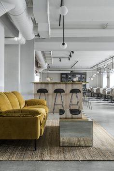 Maannos: A Cool Restaurant and Bar in Helsinki by Laura Seppänen (Nordic Design) Restaurant Entrance, Cool Restaurant, Vintage Restaurant, Restaurant Design, Bar Interior, Modern Interior Design, Interior Styling, Contemporary Interior, Helsinki