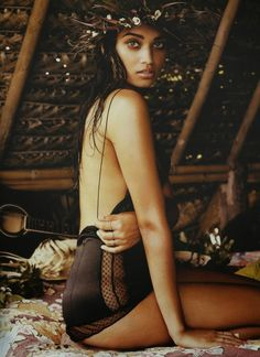 shanina shaik by david gulbert