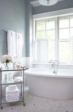 bathroom white egg shell blue tiles - Google Search