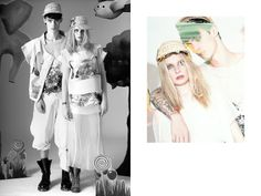 Black white vs color Design: Petra Ptackova  Photographer: Petr Jandera  Models: Tereza Janakova (ScouteenModel), Simon Kotyk (Czechmodels)  Make up: Tereza Trtikova
