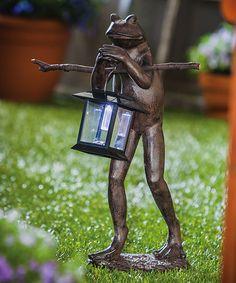 Loving this Frog Solar Outdoor Lantern on #zulily! #zulilyfinds