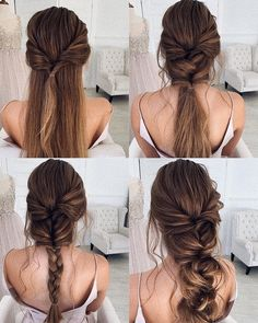 Prom Wedding Hairstyle Tutorial For Long Hair Roses & Rings - Part 3 - H . - Prom Wedding Hairstyle Tutorial For Long Hair Roses & Rings – Part 3 – Wedding Hairstyle Tu - Diy Wedding Hair, Long Hair Wedding Styles, Wedding Hairstyles For Long Hair, Wedding Hair And Makeup, Hairstyles With Bangs, Wedding Ideas, Ethnic Hairstyles, Simple Bride Hairstyles, Wedding Hair With Braid