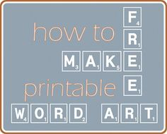 Decorating isn't always easy but it is when you decorate with word art and a free printable from Fresh Idea Studio.