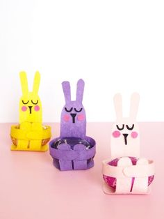 Adorable Easter Crafts for Kids and Grown-Ups Alike-Adorable Easter Crafts for Kids and Grown-Ups Alike Bunny Easter Egg Holder Craft - Easter Art, Bunny Crafts, Easter Crafts For Kids, Easter Eggs, Easter Bunny, Crafts For Kids To Make, Diy Crafts For Kids, Children Crafts, Easy Crafts