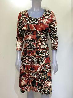 Long sleeve Tango Mango, Ruffle dress DR760L-203 – Silhouette Fashion Boutique