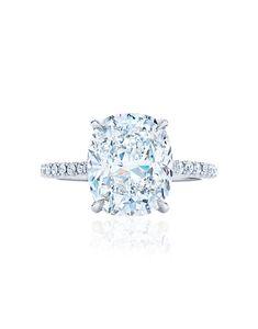 Cushion Cut Engagement Ring - 2.22ctw - PLATINUM / 6
