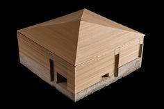 modellino casa in legno
