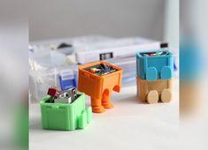 printed mini tool box designed by Jeong Seung-Ho, Denovator. 3d Printer Designs, 3d Printer Projects, Big 3d Printer, 3d Templates, 3d Printed Objects, 3d Printing Diy, 3d Printed Jewelry, 3d Printing Technology, 3d Prints