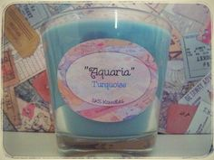 Aquaria turquoise scented soya candles
