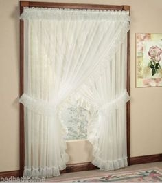 priscilla curtains living room stairs ideas jessica ninon ruffled country pinterest and sheer