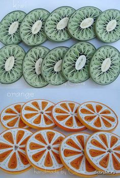 Quilling examples - Fruit slices