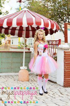 Candyland themed Corset and Tutu Set Dress by MyaPapayaBoutique, $350.00